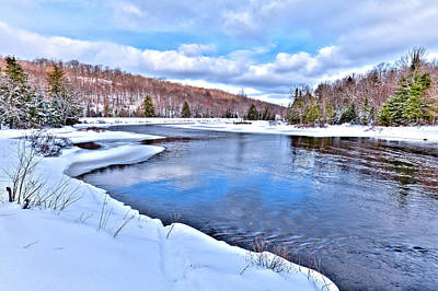 Photograph - Snowy Banks Of The River by David Patterson