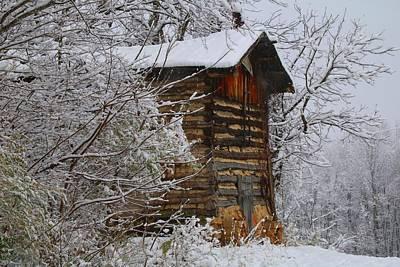 Photograph - Snowy Barn 1 by Kathryn Meyer