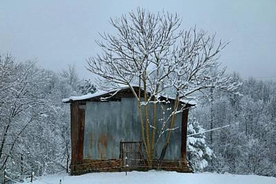 Photograph - Snowy Barn 2 by Kathryn Meyer