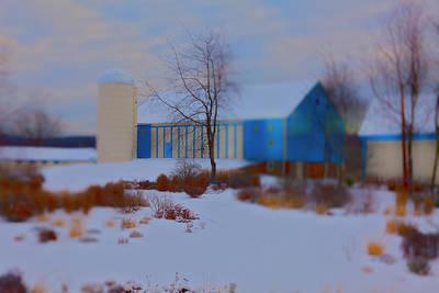 Photograph - Snowy Barn by Jan W Faul