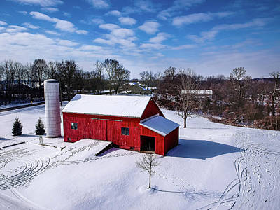 Photograph - Snowy Barn by Nick Smith