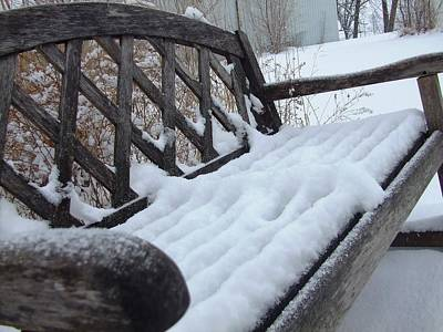 Photograph - Snowy Bench by Ali Dover