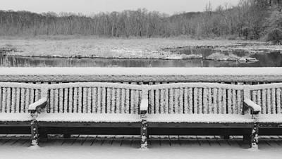 Photograph - Snowy Bench by Buddy Scott