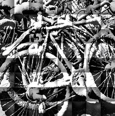 Photograph - Snowy Bike by Joan Reese