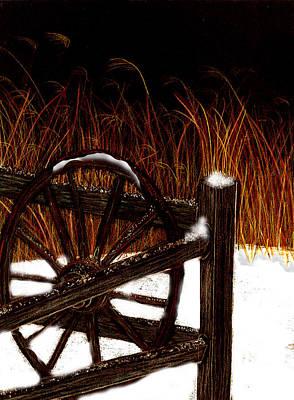 Snowy Break Art Print by Michelle Audas