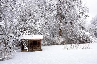 Classic Christmas Movies - Snowy Cabin by Bryan Pollard