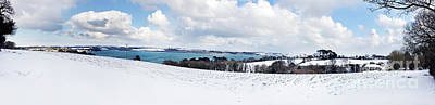 Photograph - Snowy Carrick Roads Panorama by Terri Waters