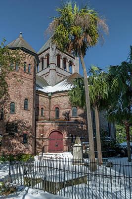 Photograph - Snowy Circular Church by Dale Powell