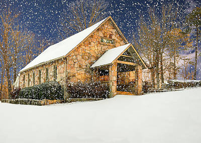 Photograph - Snowy Cloudland Presbyterian Church  by Norman Peay