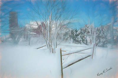 Digital Art - Snowy Country Scene by Rusty R Smith