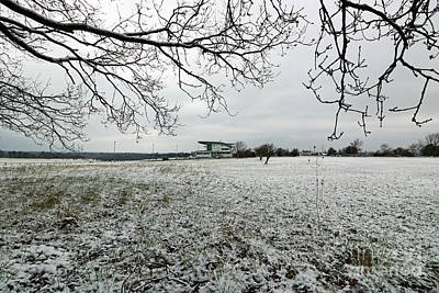 Photograph - Snowy Countryside Epsom Downs Surrey Uk by Julia Gavin