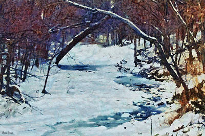 Photograph - Snowy Creek by Anna Louise
