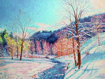 Painting - Snowy Creek by Bonnie Mason