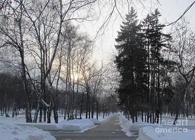 Photograph - Snowy Crossroads by Anna Yurasovsky