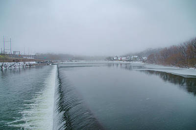 Snowy Day At Boathouse Row Art Print by Bill Cannon