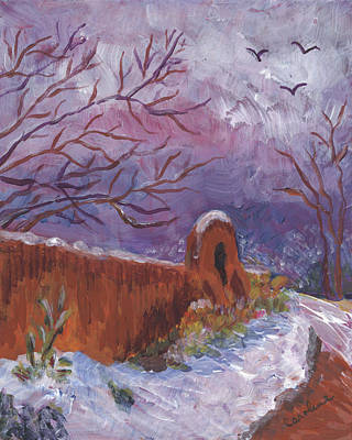 Painting - Snowy Day by Carolene Of Taos