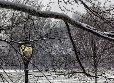 Snowy Day Central Park Nyc Art Print