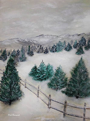 Painting - Snowy Day by Dick Bourgault