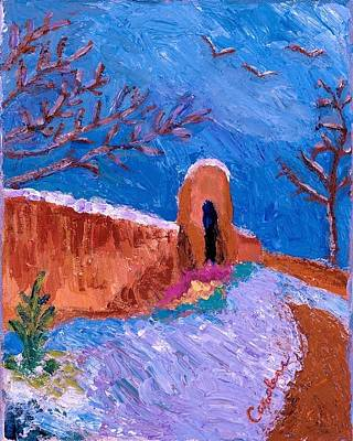 Painting - Snowy Day In Taos by Carolene Of Taos