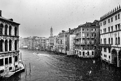 Snowy Day In Venice Art Print