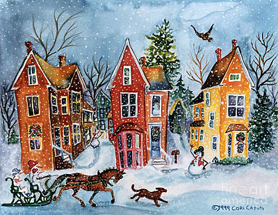 Painting - Snowy Day On Linden St by Cori Caputo