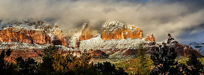 Photograph - Snowy Day In Sedona by Terry Ann Morris