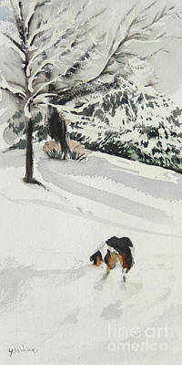 Painting - Snowy Day by Yoshiko Mishina