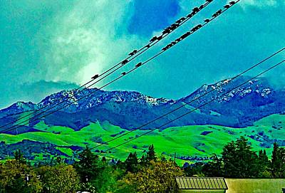 Photograph - Snowy Diablo With Birds by Cadence Spalding
