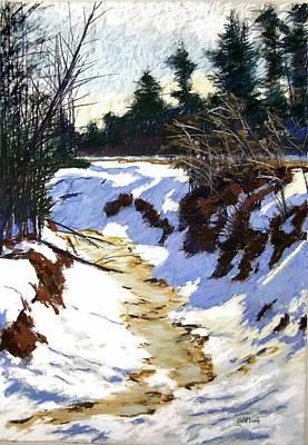 Snowy Ditch Art Print by Mary McInnis