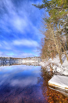 Photograph - Snowy Dock On West Lake by David Patterson