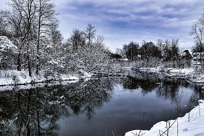 Photograph - Snowy Ellicott Creek by Nicole Lloyd