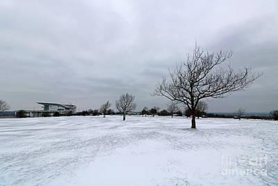 Photograph - Snowy Epsom Downs Surrey by Julia Gavin