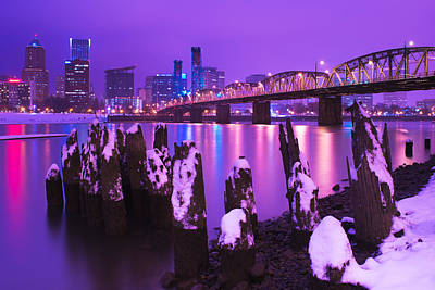 Royalty-Free and Rights-Managed Images - Snowy Evening in Stumptown by Patrick Campbell