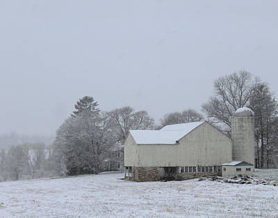 Photograph - Winter White Farm by Melinda Blackman
