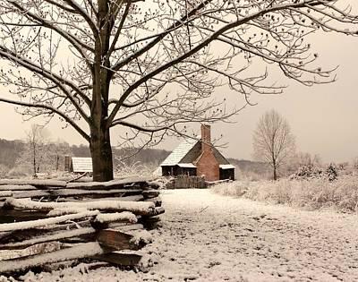 Photograph - Snowy Farm House by Buddy Scott