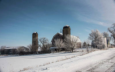 Photograph - Snowy Farmland by David Bearden