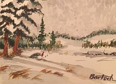 Painting - Snowy Field by David Bartsch