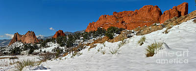 Art Print featuring the photograph Snowy Fields At Garden Of The Gods by Adam Jewell