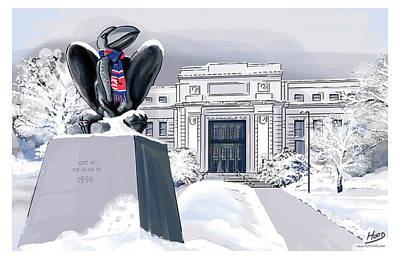 Digital Art - Snowy 'hawk by Matt Hood