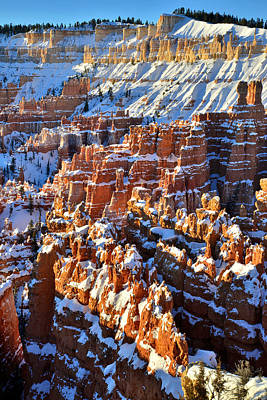 Photograph - Snowy Hoodoos by Ray Mathis
