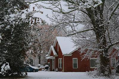 Photograph - Snowy House 2 by Kathryn Meyer