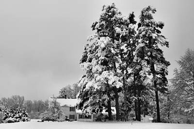 Photograph - Snowy House 3 by Kathryn Meyer