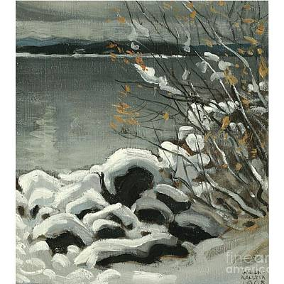 Painting - Snowy Landscape by Celestial Images