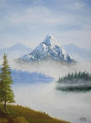 Snowy Landscape Art Print by Christian  Hidalgo