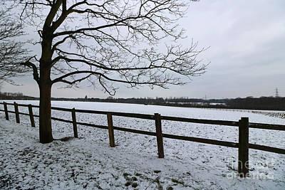 Photograph - Snowy Landscape Epsom Surrey by Julia Gavin