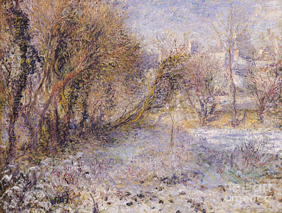 Mid-20th Painting - Snowy Landscape by Pierre Auguste Renoir