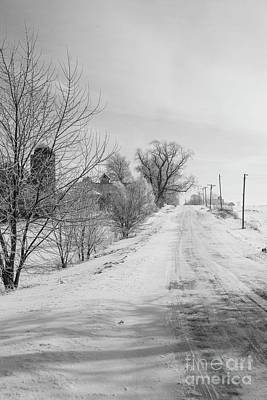 Photograph - Snowy Lane by David Bearden