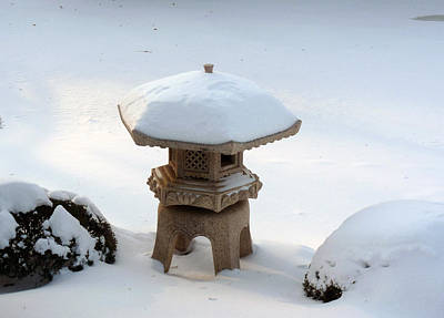 Photograph - Snowy Lantern by David Bearden