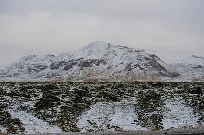 Photograph - Snowy Lava Fields Iceland by Deborah Smolinske
