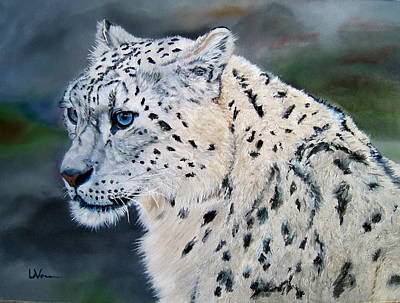 Painting - Snowy by LaVonne Hand